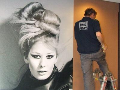 Hairstyling Wish fotowand montage